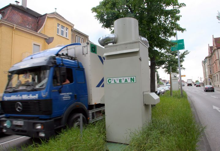 Öffentliche Feinstaubfilteranlagen von Mann und Hummel in Ludwigburg