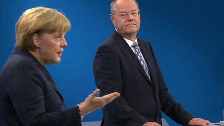 Beide privat krankenversichert: Bundeskanzlerin Angela Merkel (CDU) und SPD-Herausforderer Peer Steinbrück