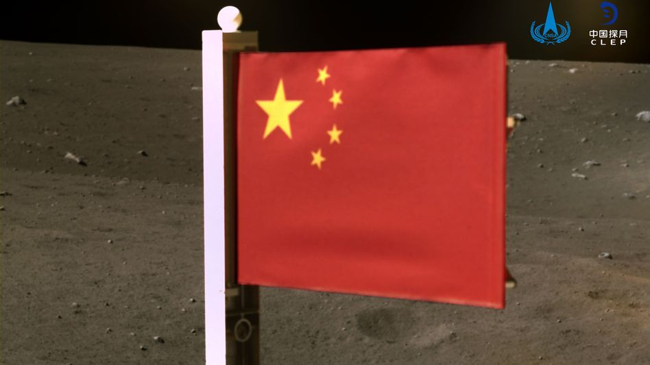 Chinesen auf dem Mond: In der Weltraumtechnik macht China stetig Fortschritte, und will die Vorherrschaft im Weltall übernehmen