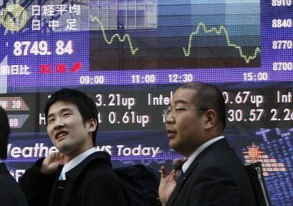 Börse in Tokio: Kann sich nicht behaupten