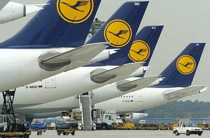 Gut im Rennen: Die Lufthansa liegt mit einer Pünktlichkeitsquote von 80 Prozent im Mittelfeld