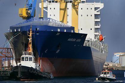 Hoher Preis, niedrige Charter: Ein neues Containerschiff in der Aker-Werft in Wismar