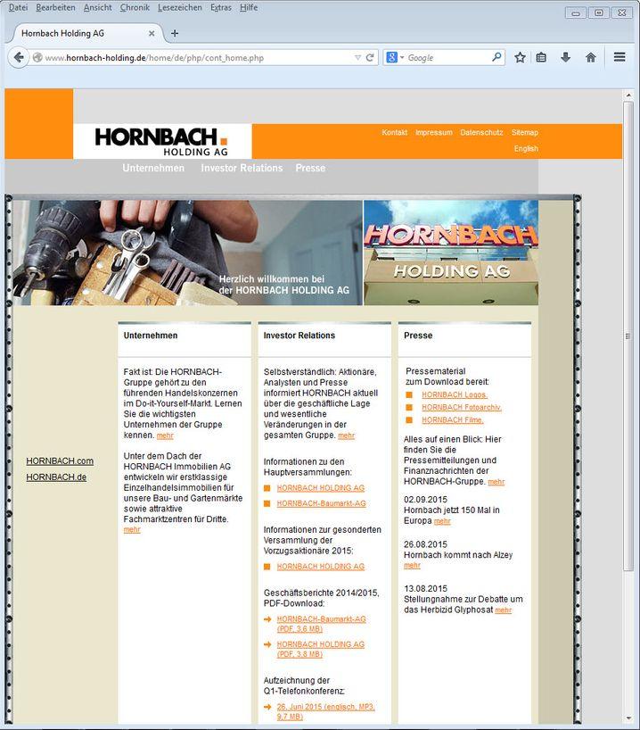 """""""Es gibt immer was zu tun"""" - laut NetFed-Ranking auch bei der Hornbach-Website, die auf dem letzten Rang steht"""