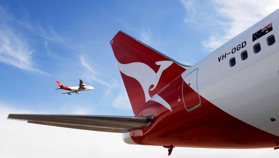 Flieger mit Känguru: Boeing 767 von Qantas Airways in Sydney