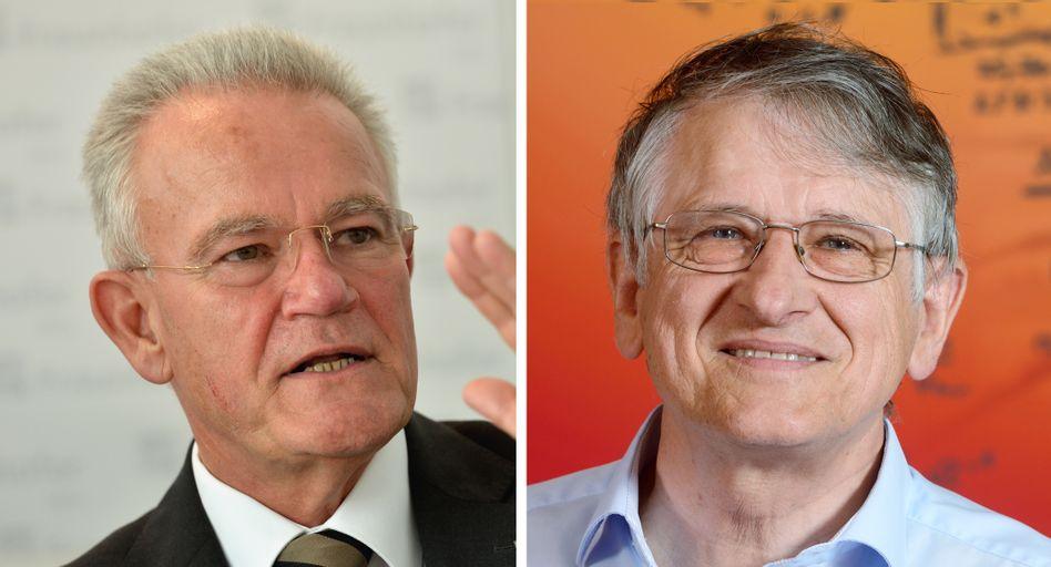 Ausgezeichnete Lebensleistung: Hans-Jörg Bullinger (links), langjähriger Präsident der Fraunhofer-Gesellschaft, wurde gemeinsam mit Physik-Nobelpreisträger Klaus von Klitzing in die Ruhmeshalle aufgenommen