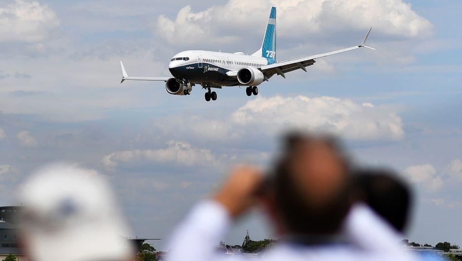 Boeing 737 Max landet bei einer Flugshow im Südwesten Londons (Archiv)