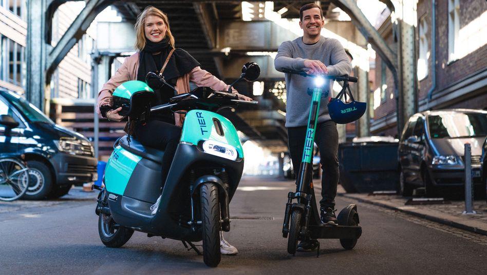 Durch Zukauft gestärkt: Künftig bietet Tier neben E-Scootern auch E-Mopeds an