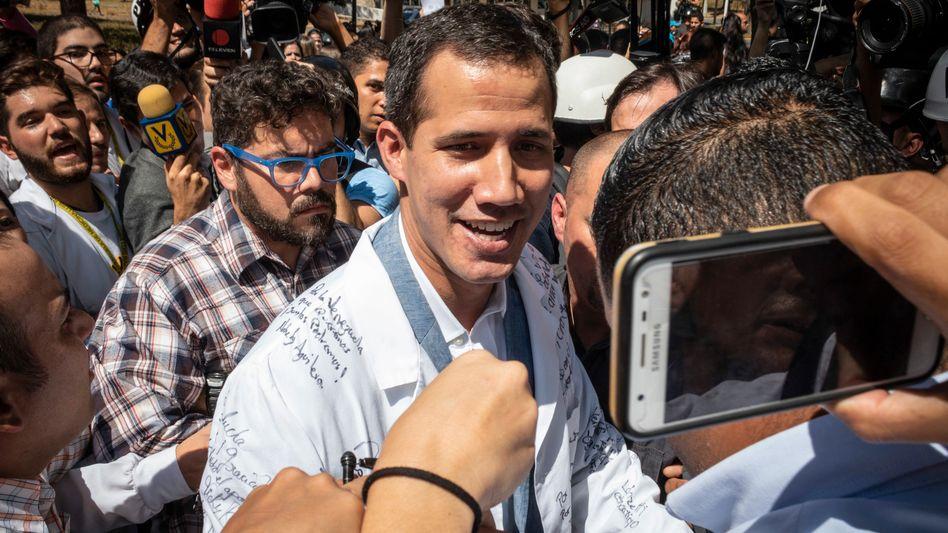 Juan Guaido: Der Oppositionsführer in Venezuela wurde vom EU-Parlament als Interimspräsident anerkannt