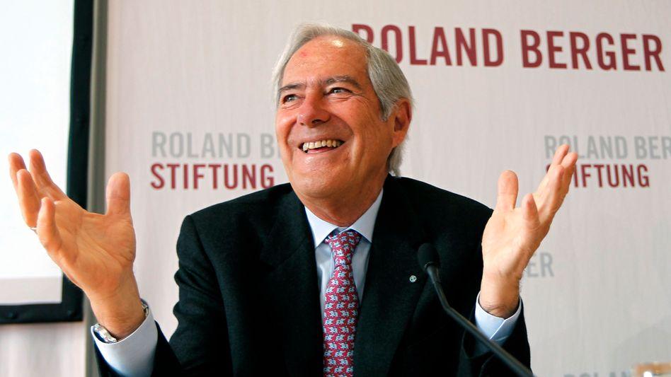 Berater-Legende Roland Berger (Archivbild) attestiert der Kanzlerin keine gute wirtschaftspolitische Bilanz, aber ...