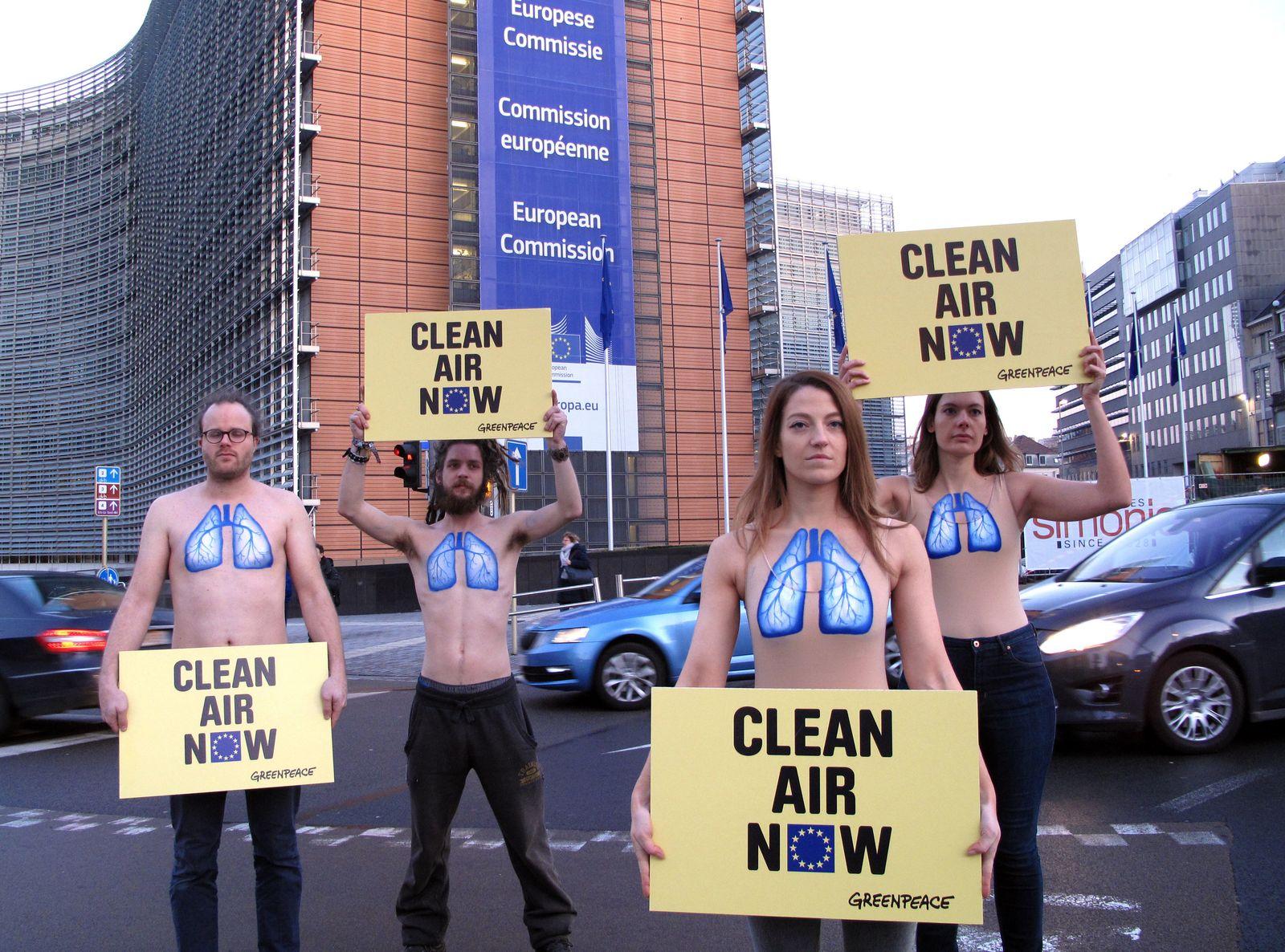 Demo gegen Luftverschmutzung in Brüssel