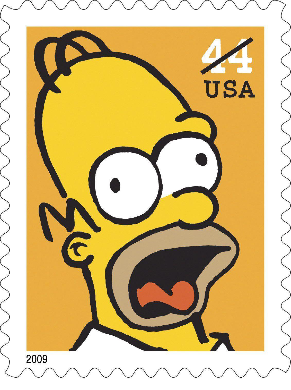 Neue Simpsons-Briefmarken in den USA