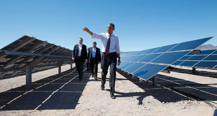 Barack Obama besichtigt ein Solarprojekt in Nevada: Für den US-Präsidenten ist Deutschland ein Vorbild für die Förderung erneuerbarer Energien