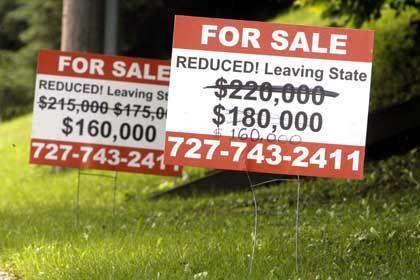 Rasanter Wertverfall: Immobilien in den USA verlieren an Wert und bringen die Schuldner in Bedrängnis.