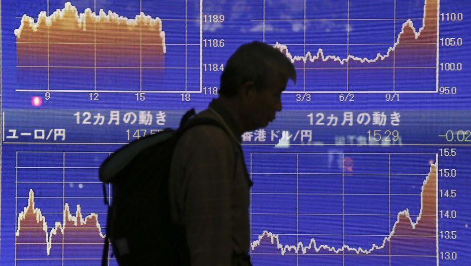 Börsenkurse in Tokio (Archivbild): Zweieinhalb Jahrzehnte Abstieg