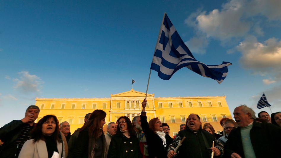 Demonstration in Athen (Archiv): Vorläufige Reformvorschläge