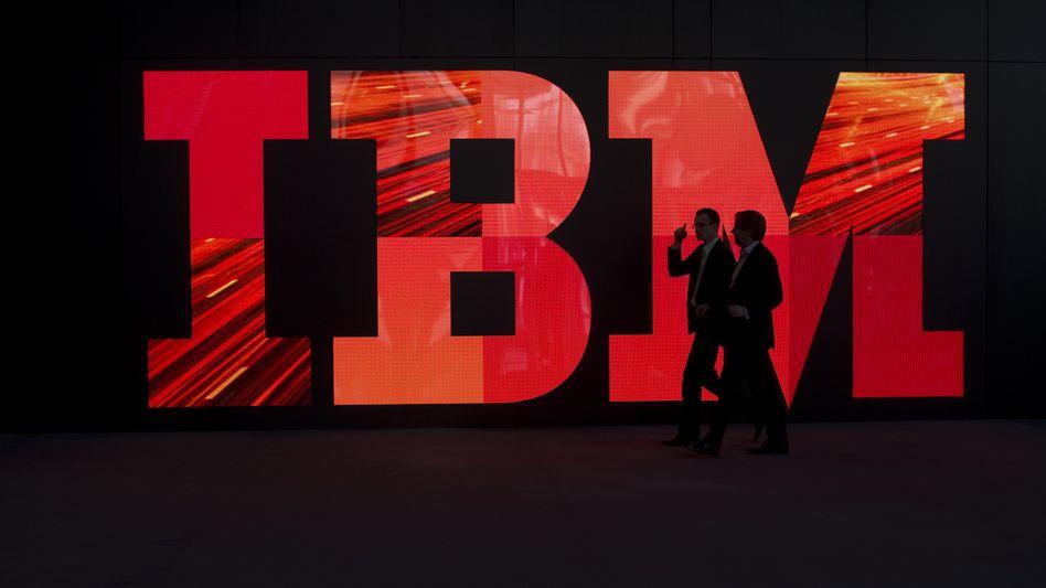 """""""Big Blue"""" mal ganz in rot: Der IT-Konzern IBM hat im zweiten Quartal besser abgeschnitten als erwartet"""