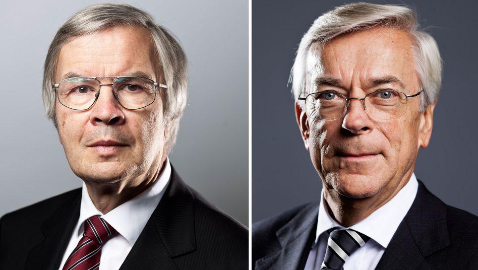 Ausgezeichnet: Der Laserphysiker und Nobelpreisträger Theodor Haensch (links) wurde ebenso wie Joachim Milberg, Aufsichtsratsvorsitzender von BMW und Gründungspräsident der Acatech (rechts), in die Hall of Fame der deutschen Forschung berufen