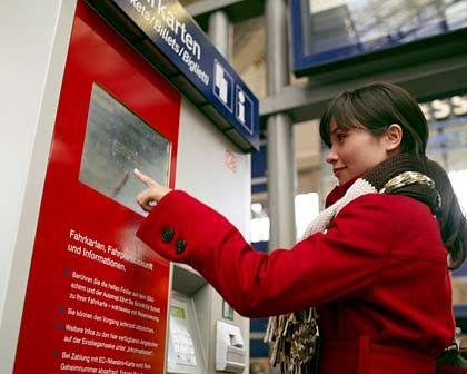 Gestresste Bahn-Kunden: Mehr als die Hälfte aller Tickets werden am Automaten verkauft