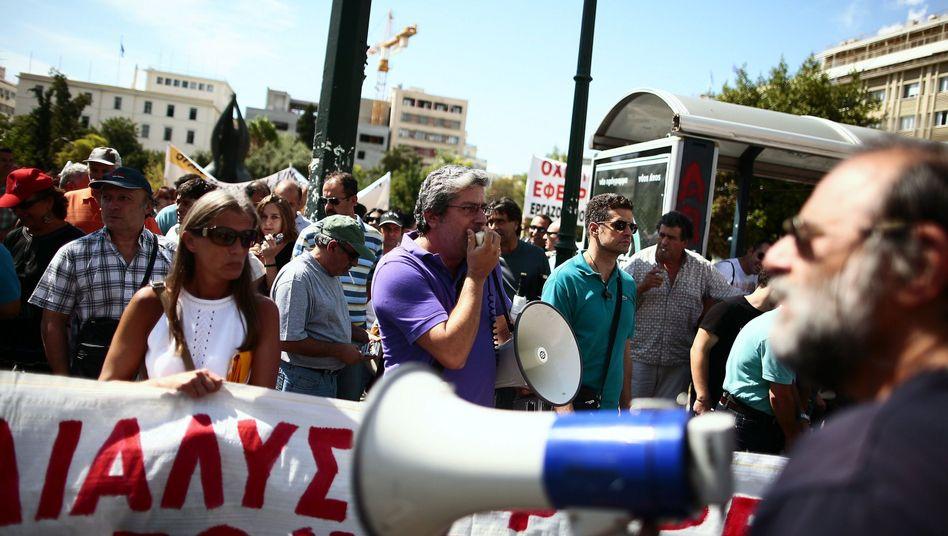 Streik in Athen: Proteste gegen Sparpakete