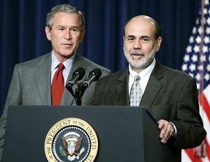 Bush, Bernanke: Ein V muss her, koste es, was es wolle