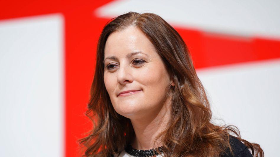 """""""Ab jetzt sind wir im Wahlkampf"""": Parteichefin Janine Wissler will sich für mehr soziale Gerechtigkeit einsetzen"""
