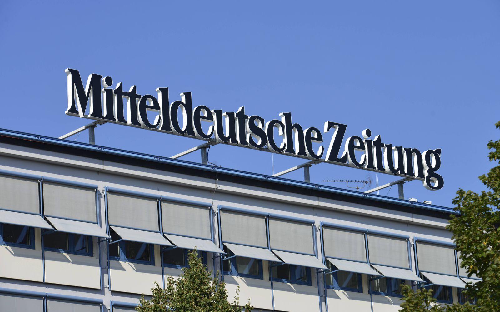 EINMALIGE VERWENDUNG Mitteldeutsche Zeitung