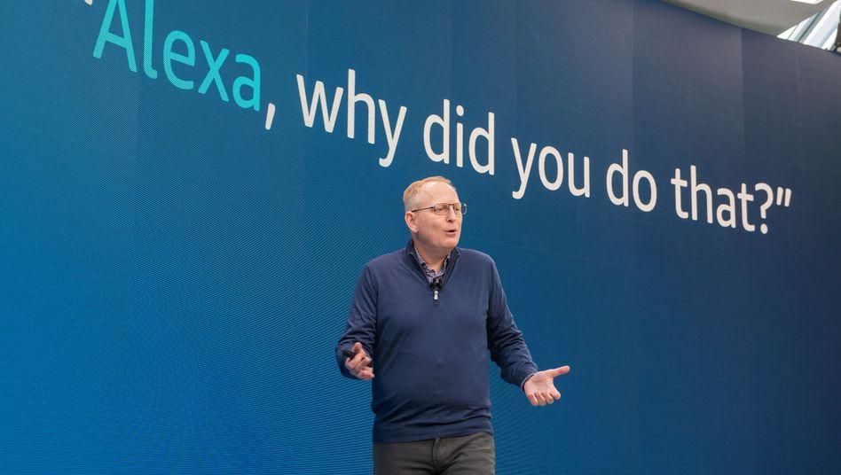 Amazon-Gerätechechef Dave Limp: Nicht jede Aktion der Alexa-Software ist nachvollziehbar. Künstliche Intelligenz ist noch in der Frühphase
