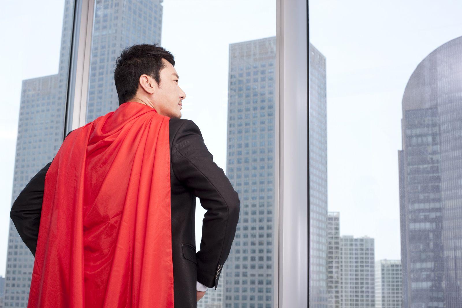 NICHT MEHR VERWENDEN! - Superheld / Gebäude / Roter Umhang