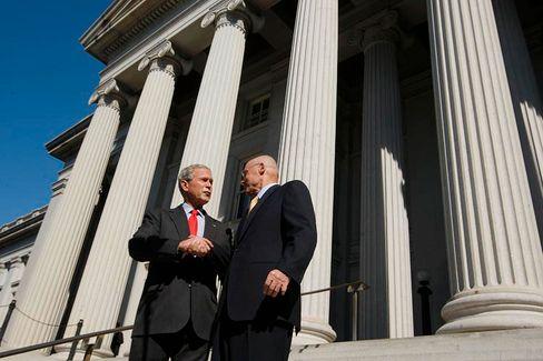 Schwer getroffen: US-Präsident Bush und sein Finanzminister Paulson