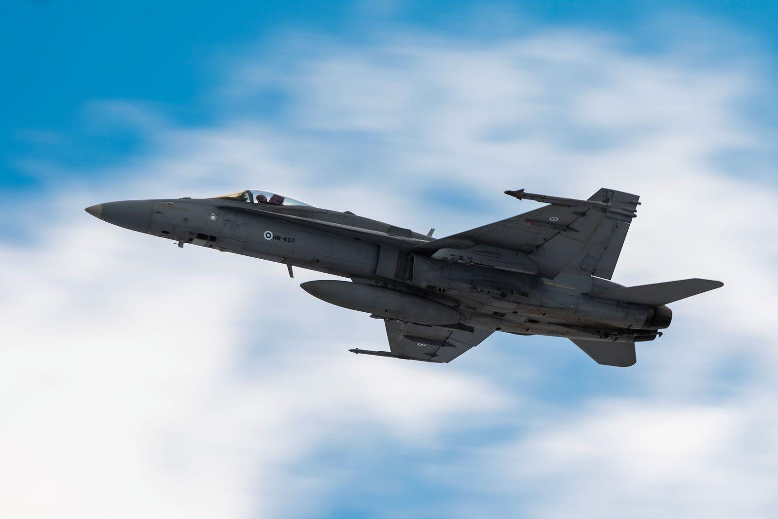Finnische F-18 Hornet