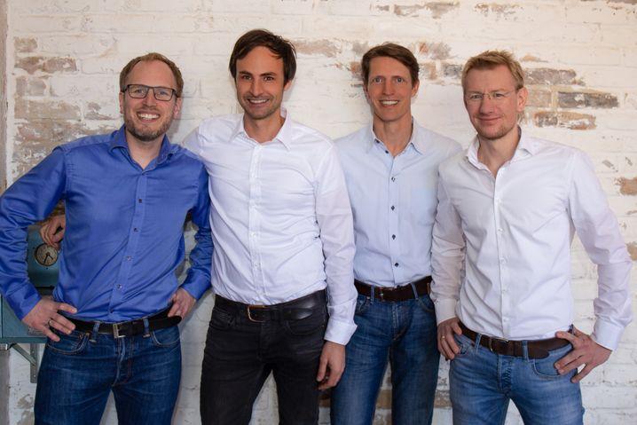 Die Home24-Vorstandsmitglieder Johannes Schaback, Marc Appelhoff, Christoph Cordes und Philipp Kreibohm (v.l.). Kreibohm hat das Unternehmen Ende März verlassen