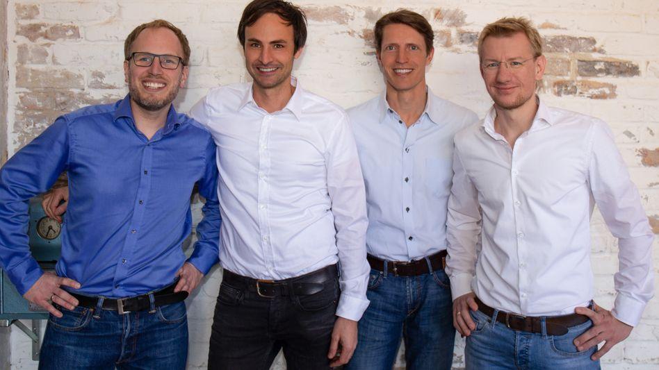 Die Home24-Vorstände Johannes Schaback, Marc Appelhoff, Christoph Cordes und Philipp Kreibohm (v.l.)