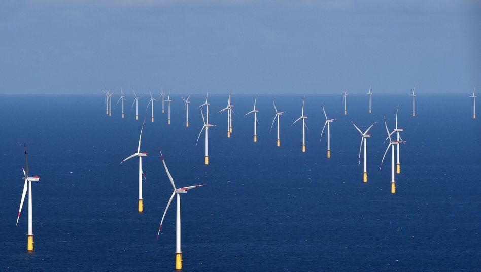 Windkraftanlage in der Nordsee