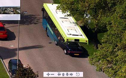 Artefakt 2: Pkw und Bus verschmelzen