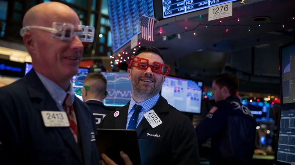 Bietet 2020 Grund zum Feiern? Wall-Street-Händler am Silvestertag 2019.