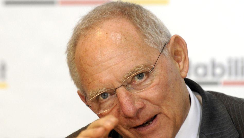 Bundesfinanzminister Wolfgang Schäuble: Rückzug auf konsensfähige Position