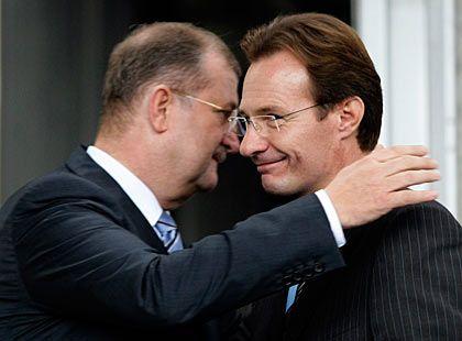 Der alte und der neue Chef: Wiedeking (l.) und Macht bildeten ein starkes Team