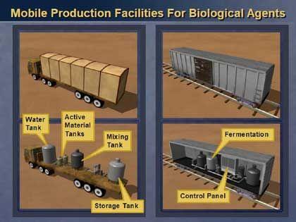 Die geheimnisumwitterten rollenden Chemielabors hat Powell nicht mit Satellitenbildern belegen können . . .