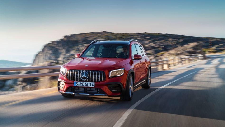 Mercedes-AMG GLB: Weit entfernt von den CO2-Zielen des Unternehmens.