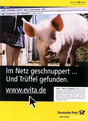 Schwein mit dem Schwein: Das Internet hat auch für Postkunden einige Überraschungen parat