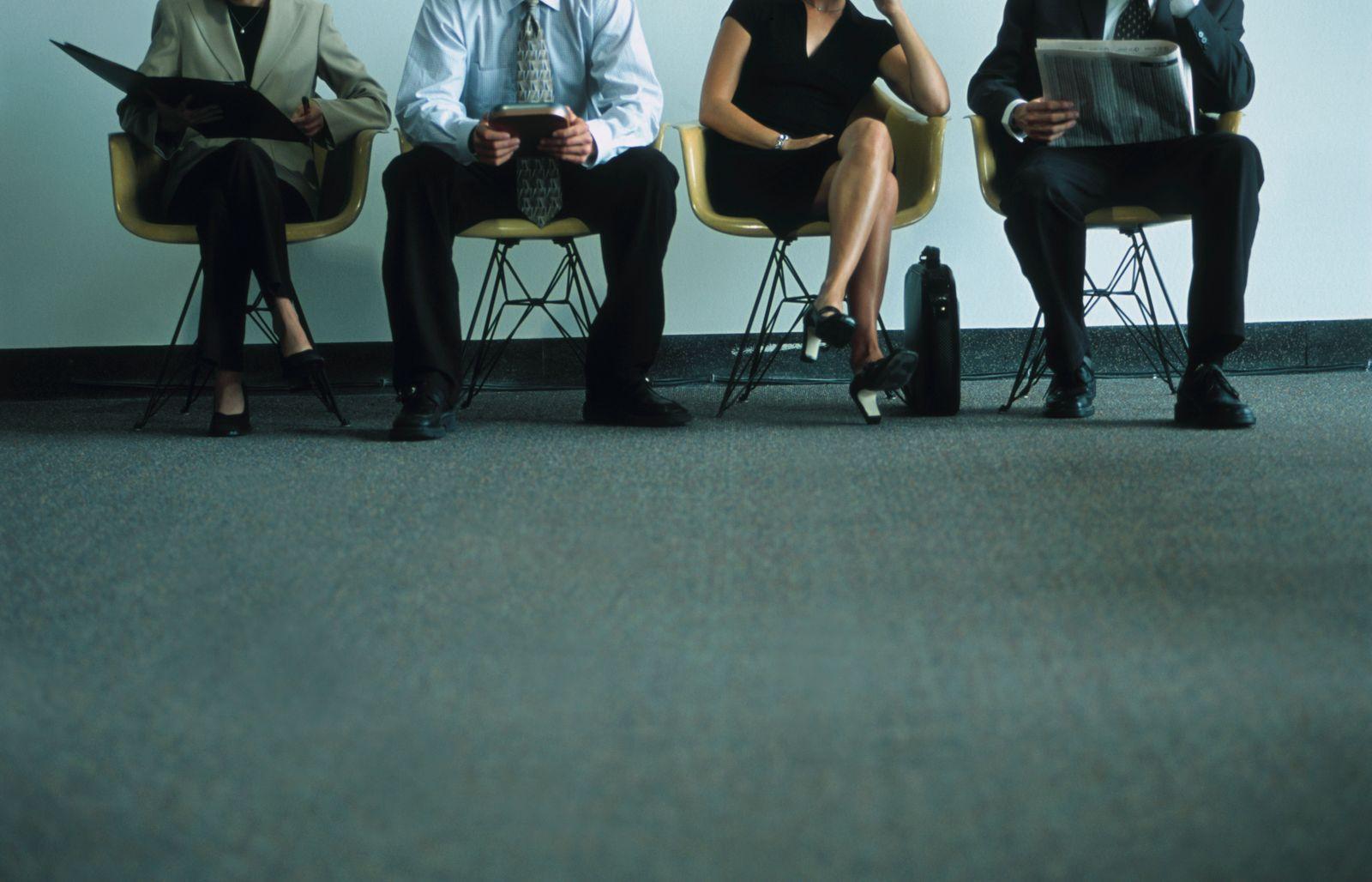 EINMALIGE VERWENDUNG Bewerbung / Job / Gespräch / Warten