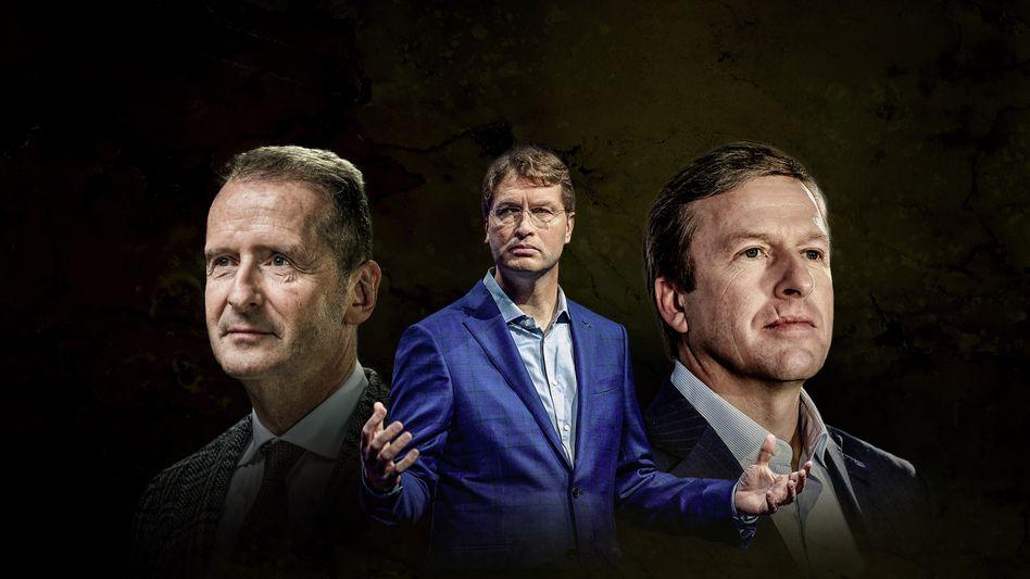 Düstere Zukunft: Herbert Diess, Ola Källenius und Oliver Zipse (v. l.)