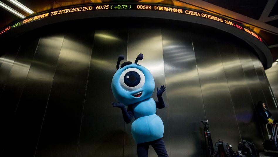 Ant-Maskottchen beim Alibaba-Börsengang: Die Ant Group ist global so bedeutsam wie kein anderes chinesisches Finanzinstitut