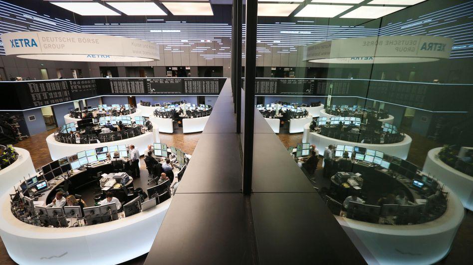 Handelssaal in Frankfurt: Der deutsche Leitindex ist angeschlagen