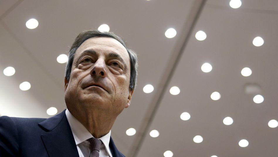 """Mario Draghi: """"Wenn wir überzeugt sind, dass unser mittelfristiges Inflationsziel in Gefahr ist, werden wir alle notwendigen Maßnahmen ergreifen"""""""