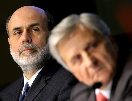 Aufgepasst: Fed-Chef Ben Bernanke (links, mit EZB-Präsident Jean-Claude Trichet) behält die Märkte im Blick