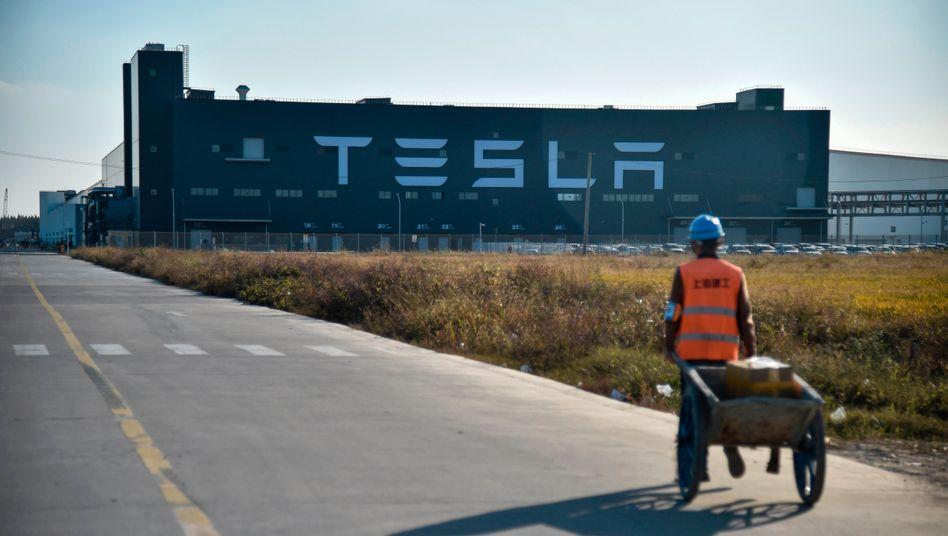"""Tesla-""""Gigafactory"""" in Shanghai: Das in 8 Monaten errichtete Werk dient als Vorbild für Teslas deutsche Pläne"""