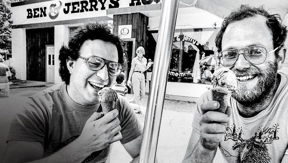 KEINE AUSBEUTER Für Ben Cohen (r.) und Jerry Greenfield war persönlicher Reichtum nicht das Wichtigste
