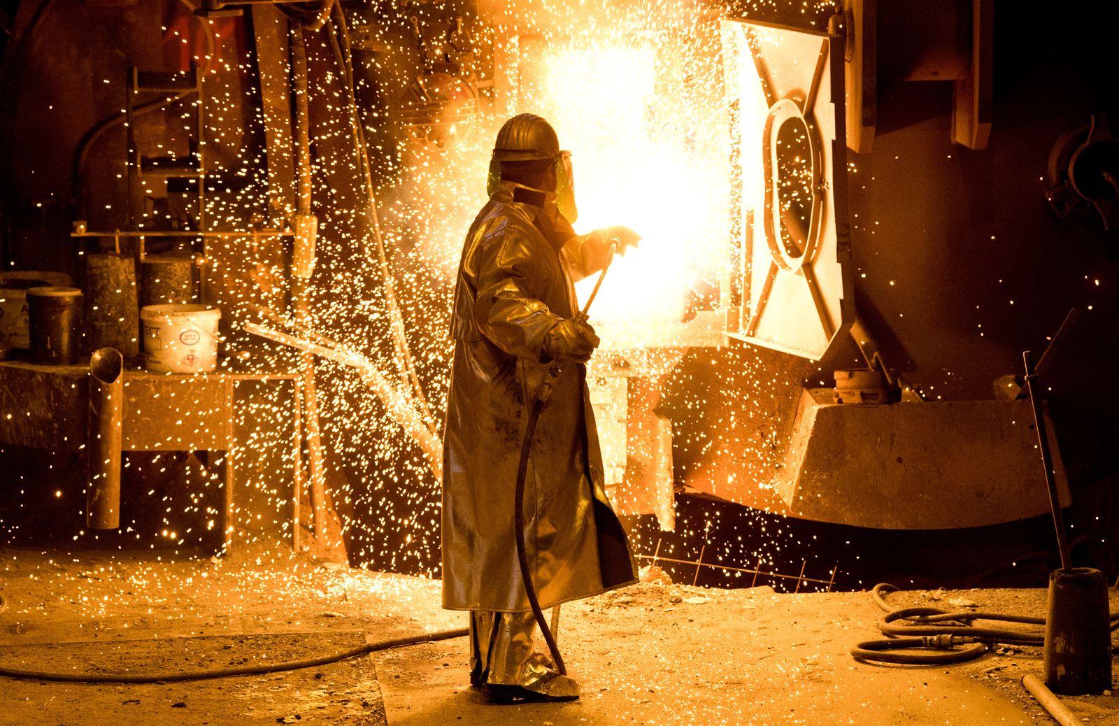 Deutschland / Konjunktur / Stahl / Stahlwerk / Export