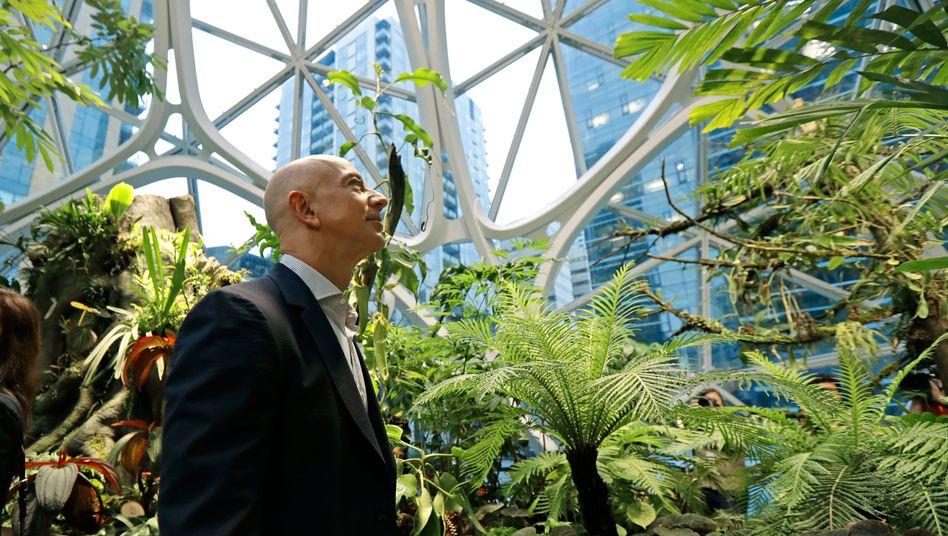 Das Klimaabkommen ist ihm wichtig: Amazon-Chef Jeff Bezos gehört zu den Unterzeichnern des Aufrufs, der Konzern selbst hat sich ebenfalls ambitionierte Klimaziele gesetzt